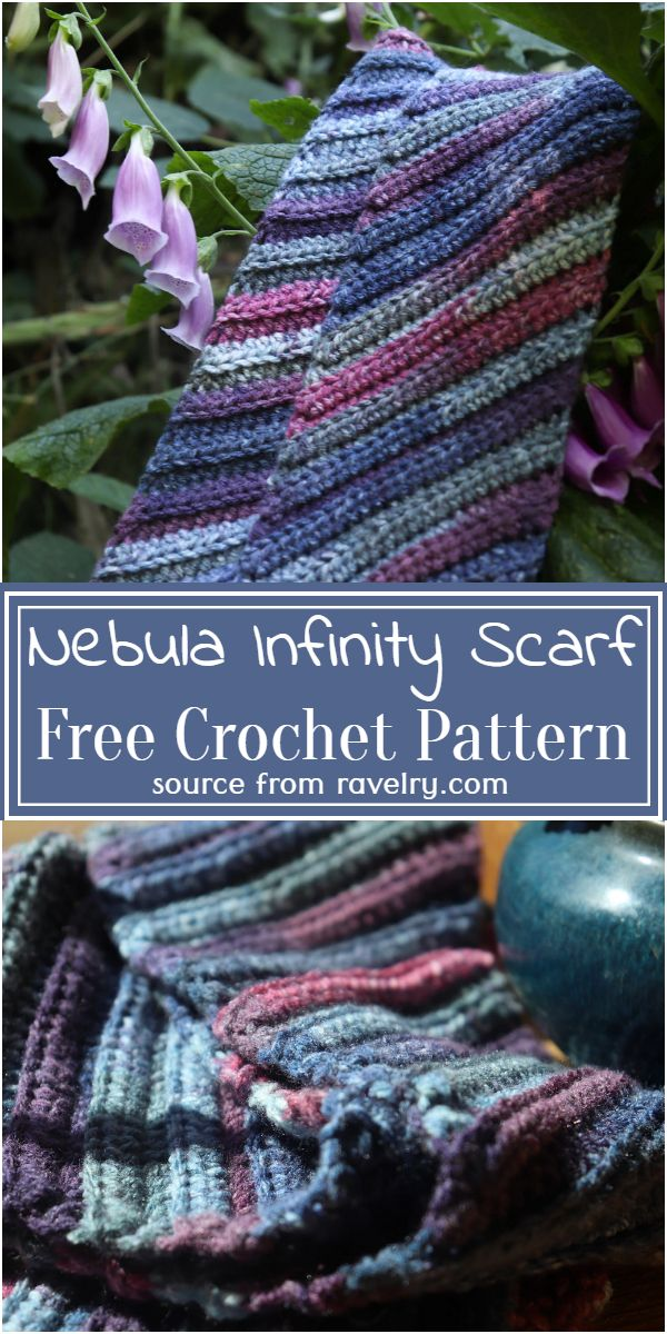 Nebula Infinity Scarf Crochet Pattern