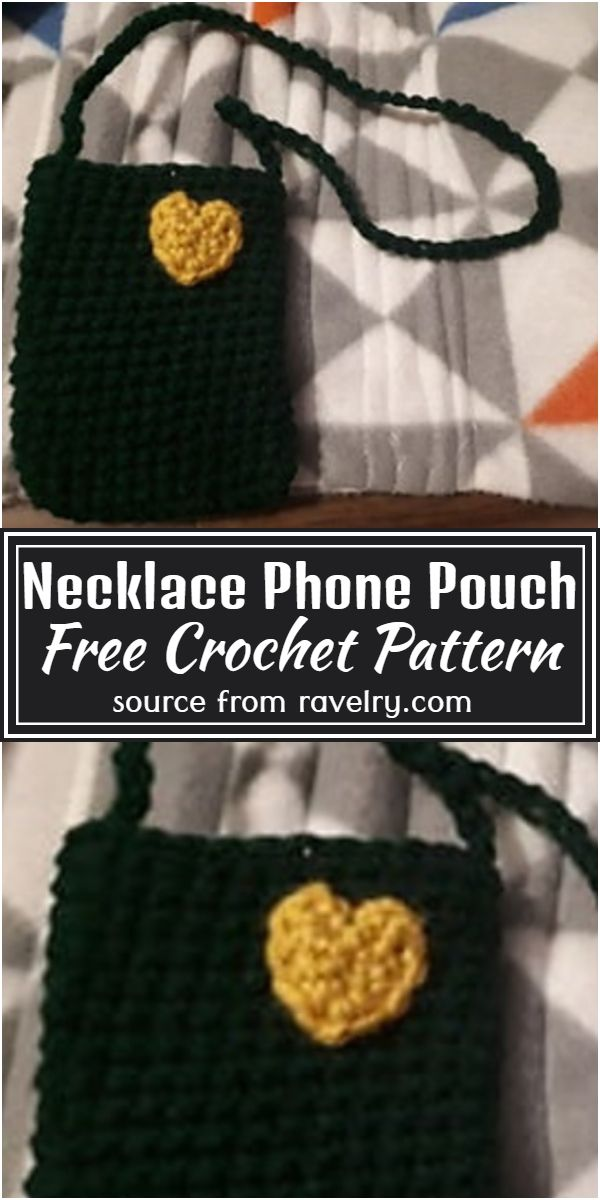 Necklace Phone Pouch Crochet Pattern