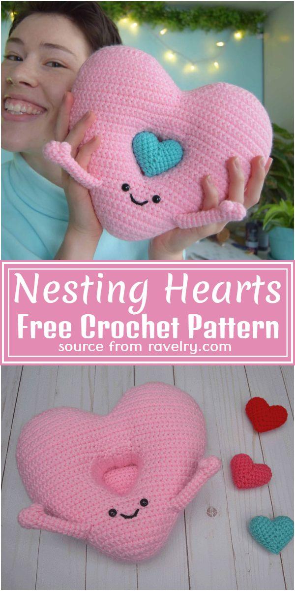 Nesting Hearts Crochet Pattern