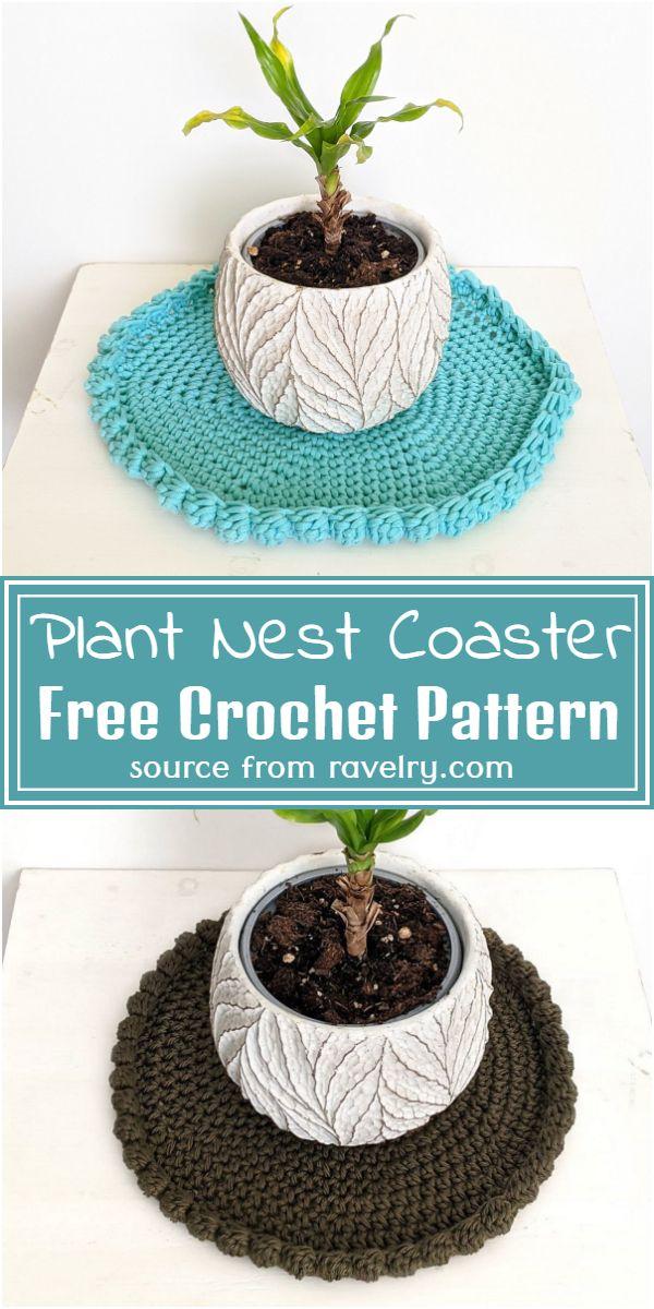 Plant Nest Coaster Crochet Pattern