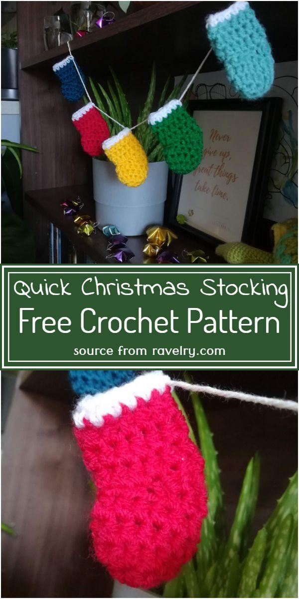 Quick Christmas Stocking Crochet Pattern