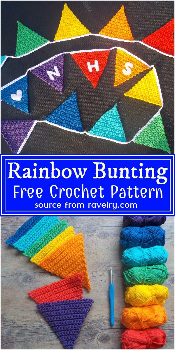 Rainbow Crochet Bunting Pattern