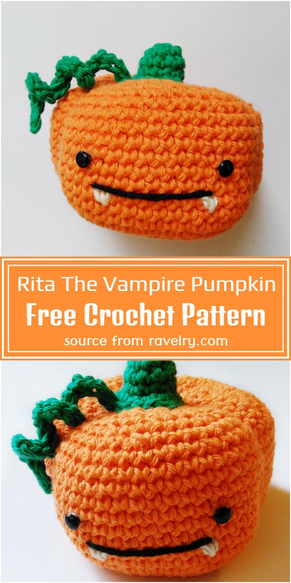 Rita The Vampire Pumpkin Crochet Pattern