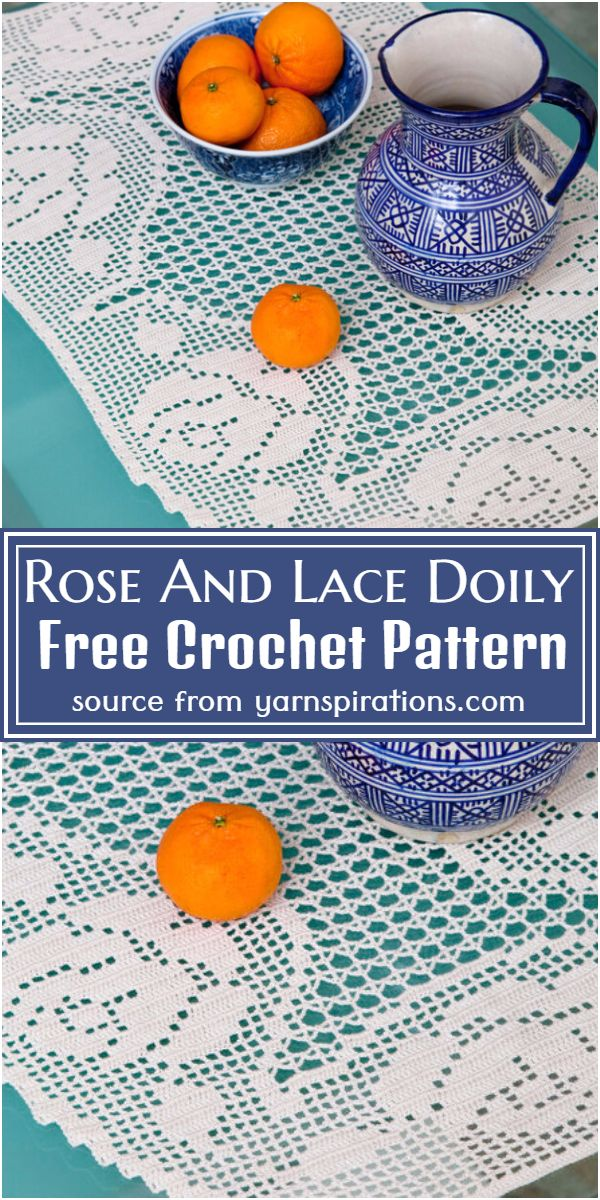 Rose And Lace Doily Crochet Pattern