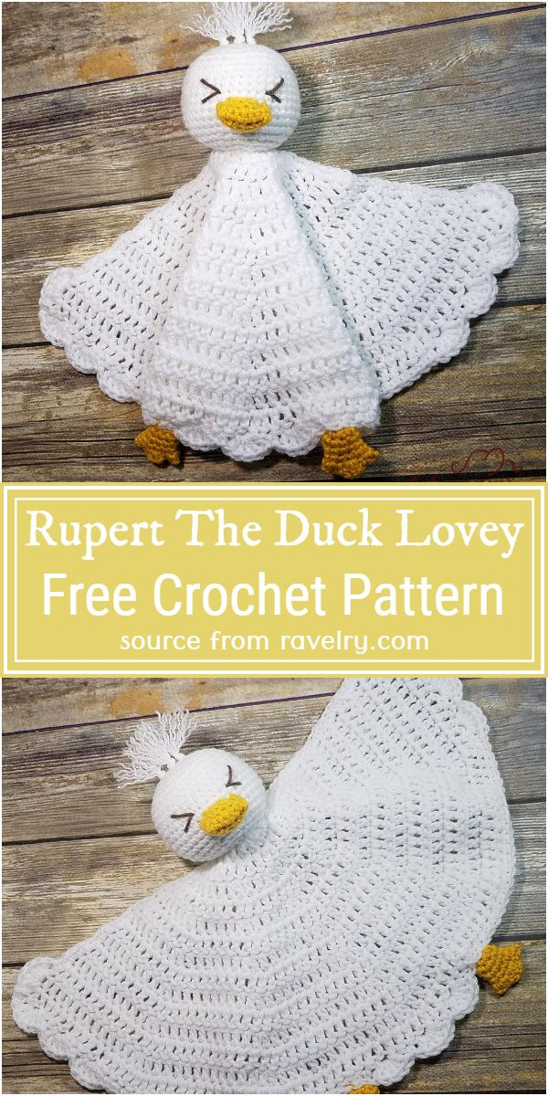Rupert The Duck Lovey Crochet Pattern