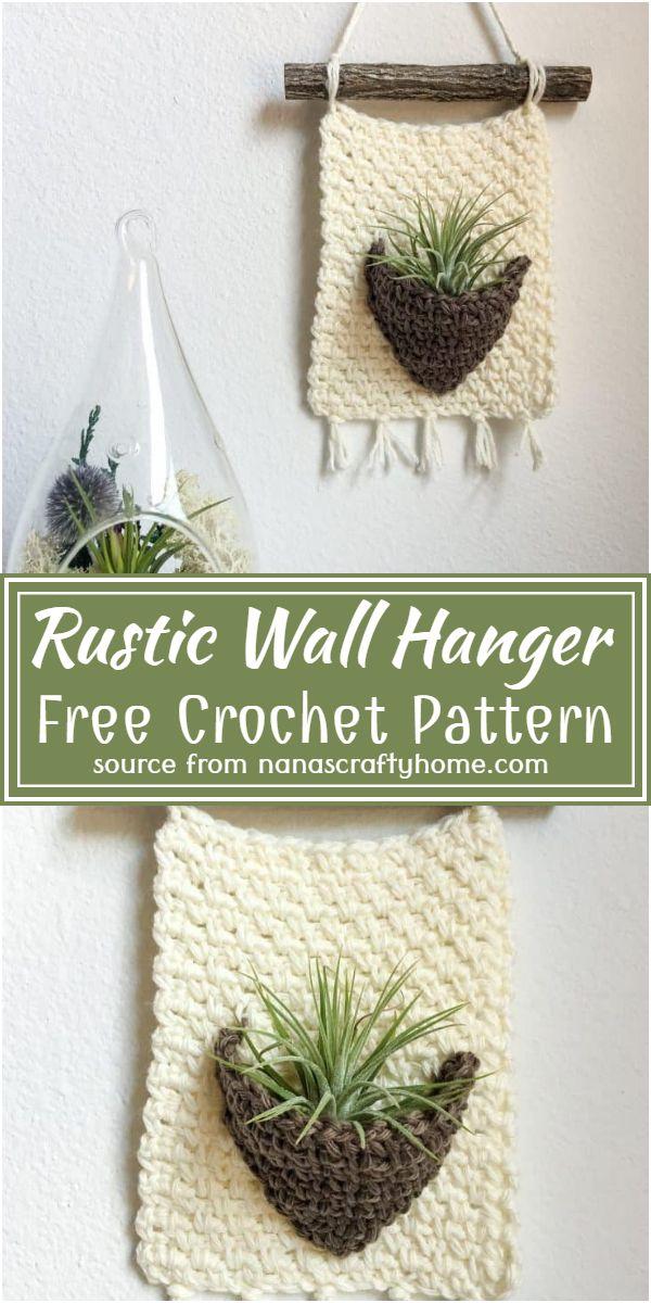Rustic Wall Hanger Crochet Pattern