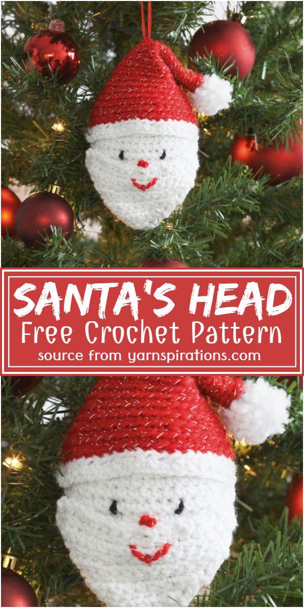 Santa's Head Crochet Pattern