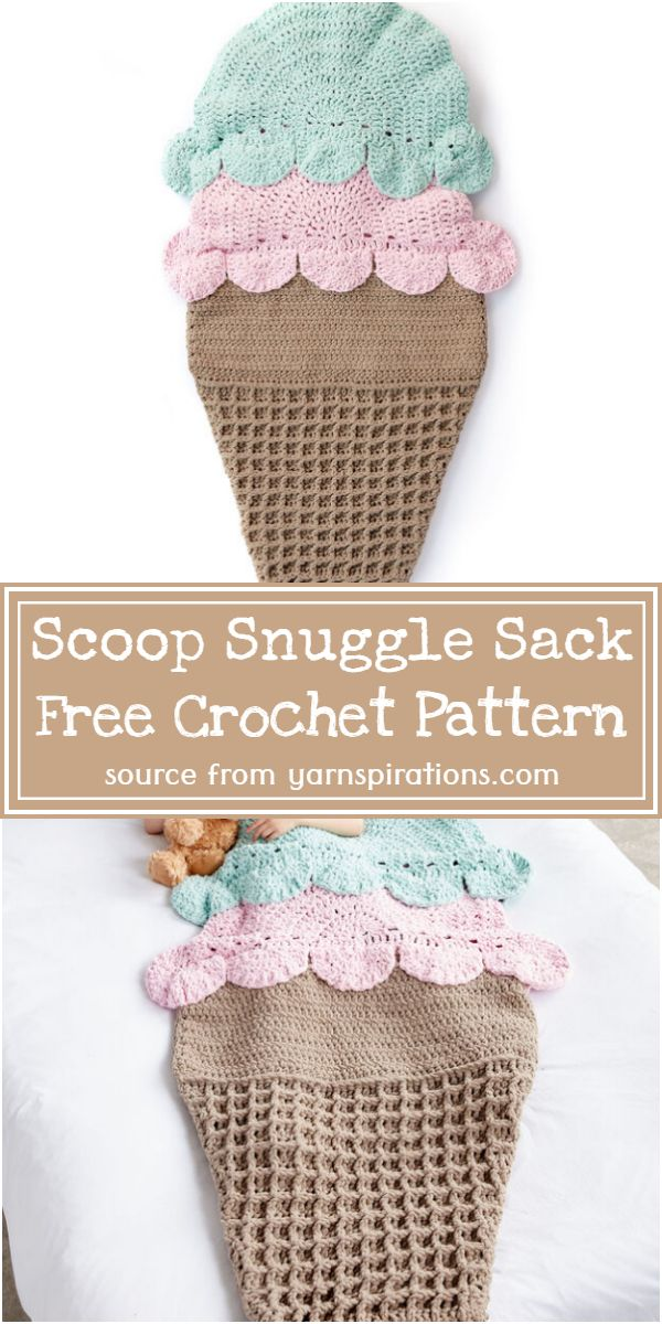 Scoop Crochet Snuggle Sack Free Pattern
