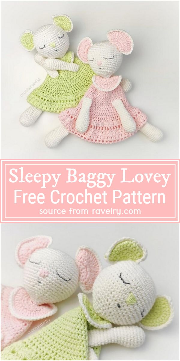 Sleepy Baggy Lovey Crochet Pattern