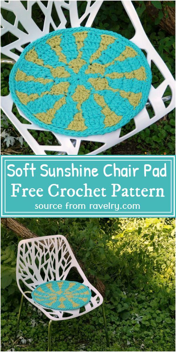 Soft Sunshine Chair Pad Crochet Pattern