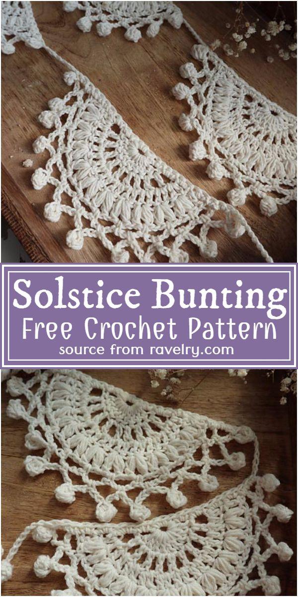 Solstice Crochet Bunting Pattern