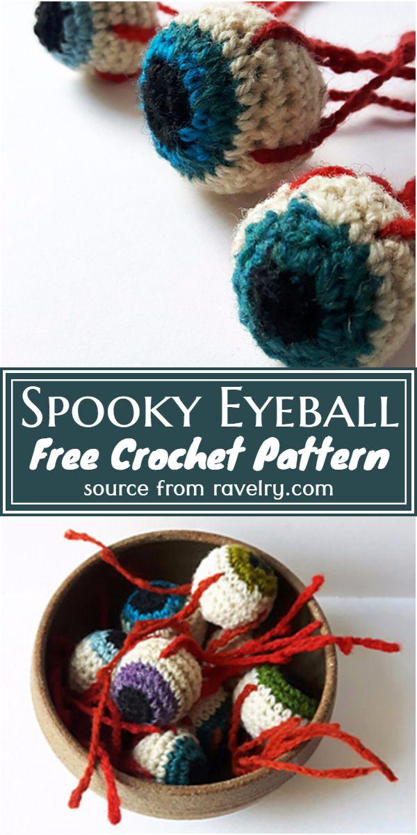 Spooky Eyeball Crochet Pattern