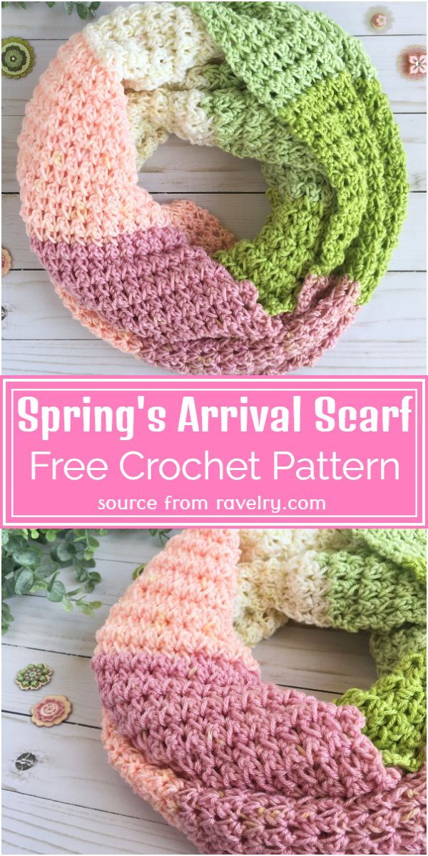 Spring's Arrival Scarf Crochet Pattern