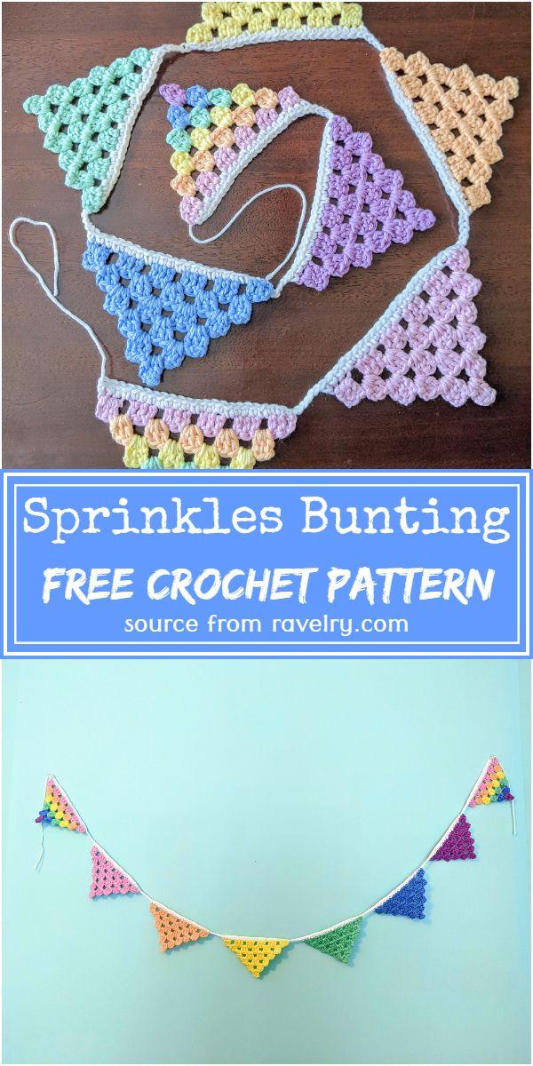 Sprinkles Crochet Bunting Pattern