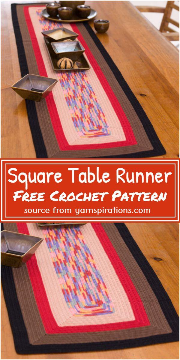 Square Crochet Table Runner Free Pattern