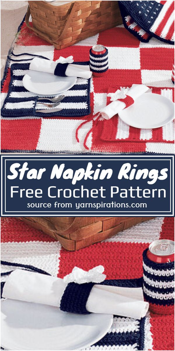 Star Napkin Rings Crochet Pattern
