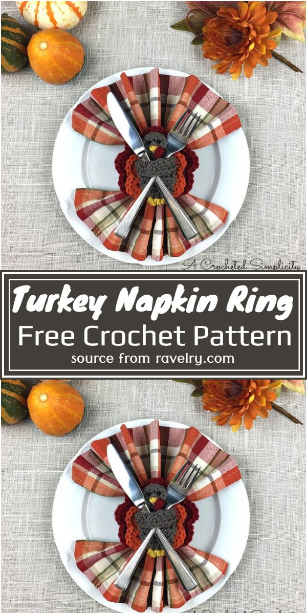 Turkey Napkin Ring Crochet Pattern