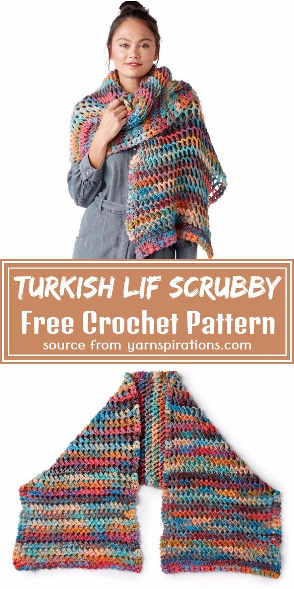 Turkish Stitch Shawl Crochet Pattern