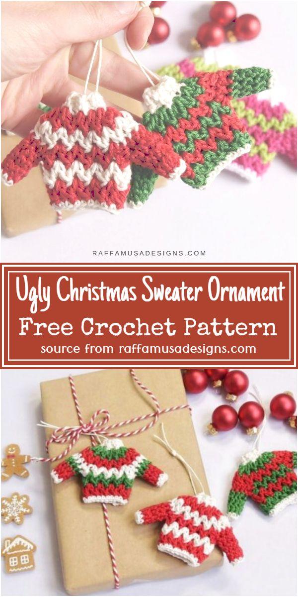 Ugly Christmas Sweater Ornament Crochet Pattern