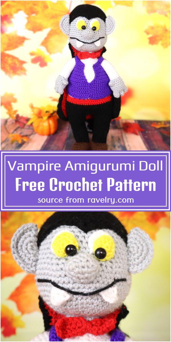 Vampire Amigurumi Doll Crochet Pattern