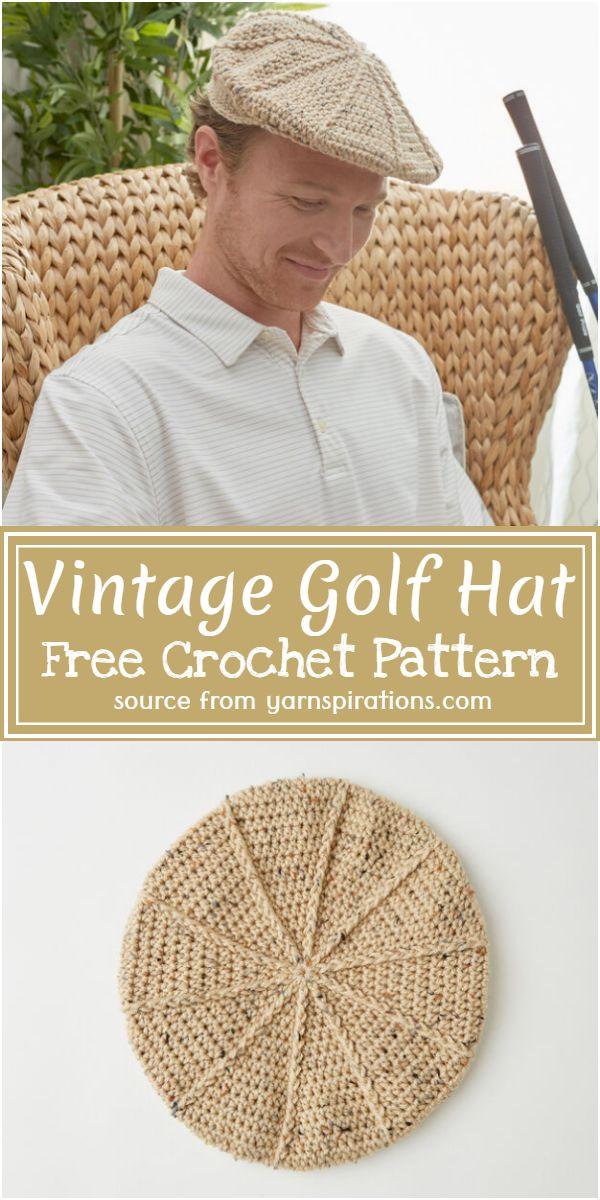 Vintage Golf Hat Crochet Pattern