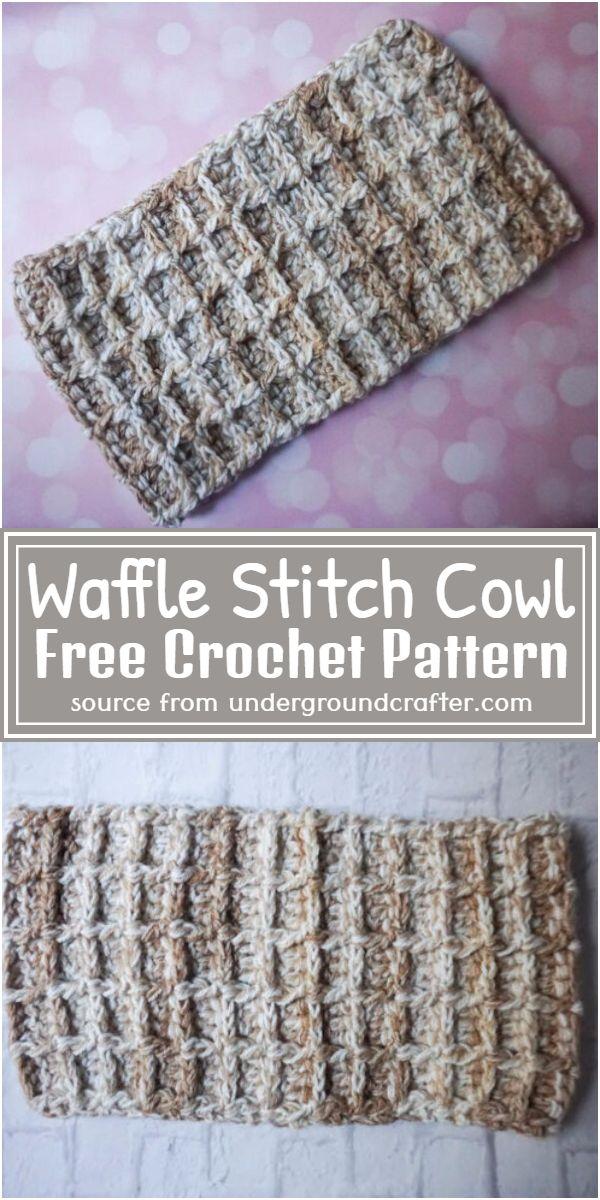 Waffle Stitch Cowl Crochet Pattern