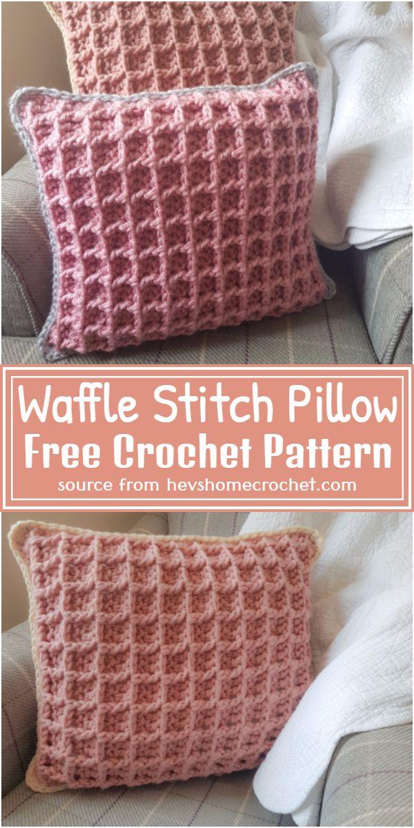 Waffle Stitch Pillow Crochet Pattern