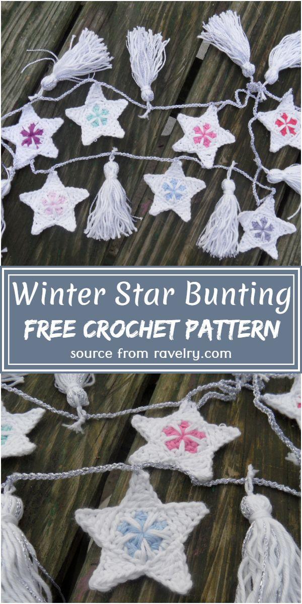 Winter Star Bunting Crochet Pattern