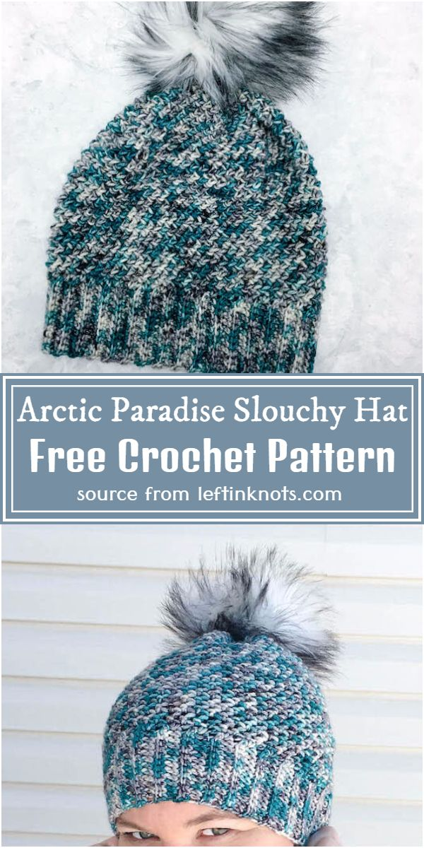 Arctic Paradise Slouchy Hat Crochet Pattern