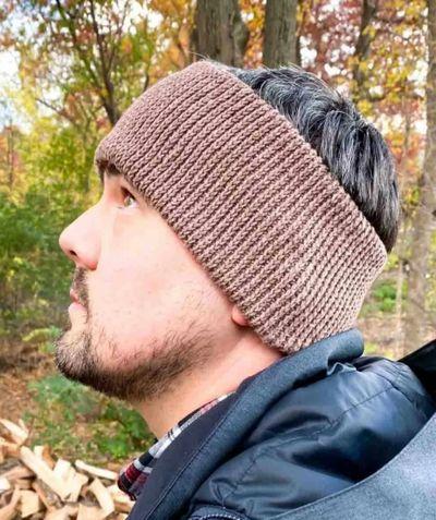 Crochet Afton Ear Warmer Free Pattern For Men