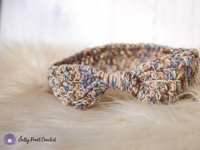 Crochet Cinched Ear Warmer Free Pattern