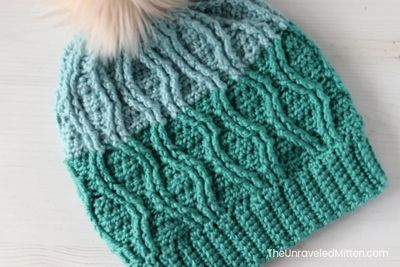 Crochet Straits Cable Slouchy Hat Pattern