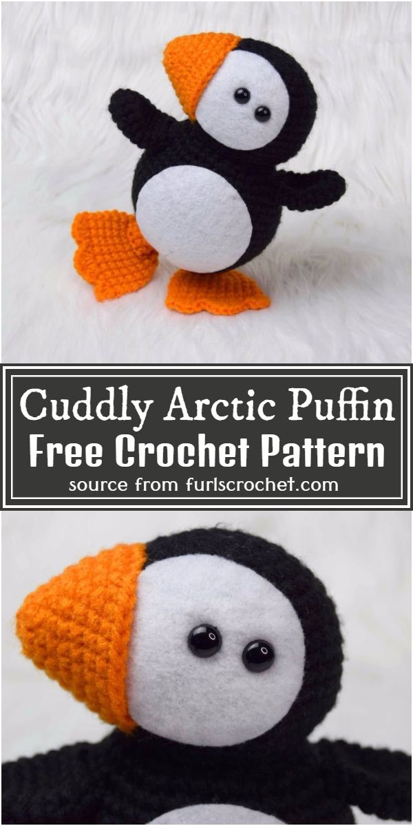 Cuddly Crochet Arctic Puffin Free Pattern