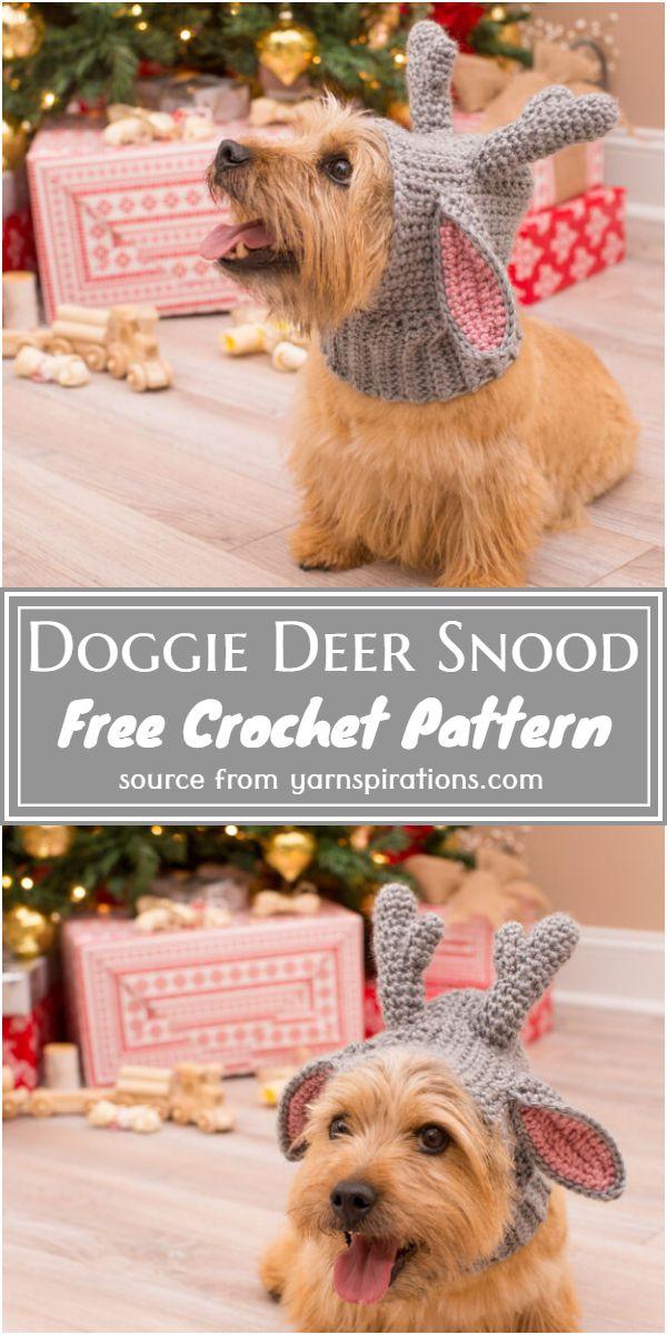 Doggie Crochet Deer Snood Pattern