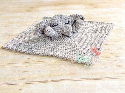 Elephant Lovey Puppet Crochet Pattern