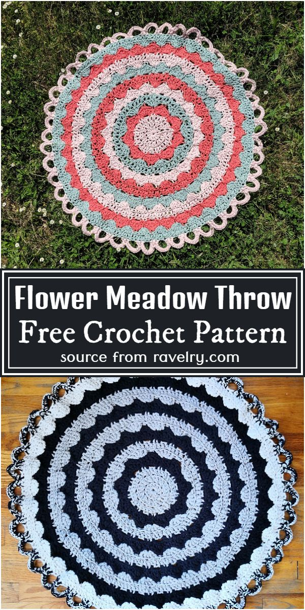 Flower Throw Free Pattern