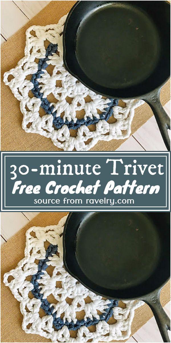 Free Crochet 30-minute Trivet Pattern