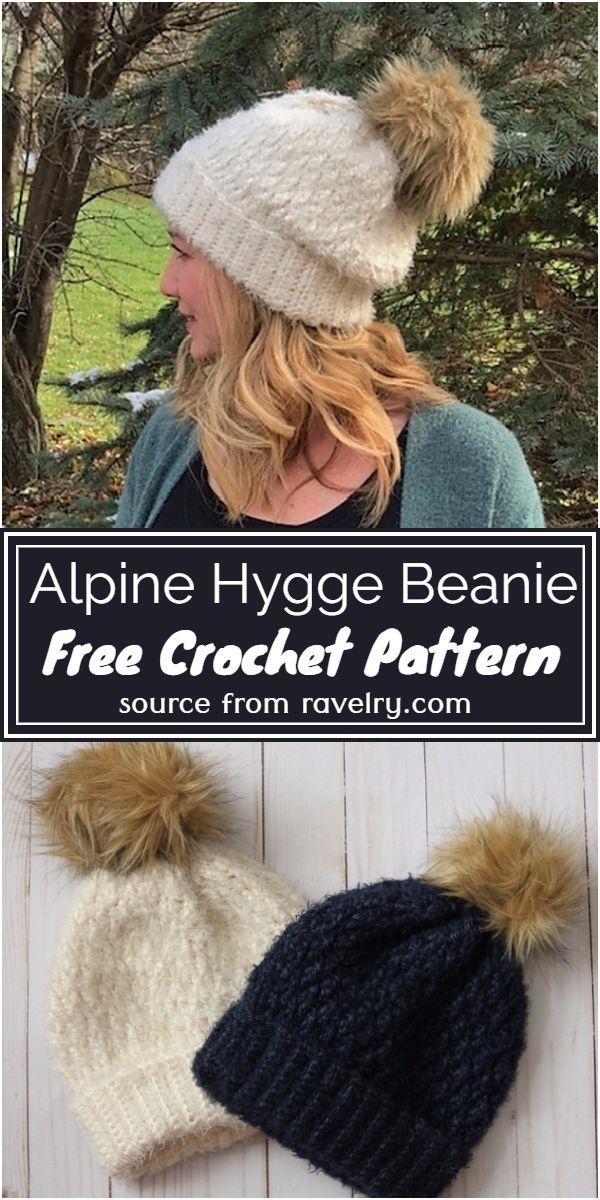 Free Crochet Alpine Hygge Beanie Pattern