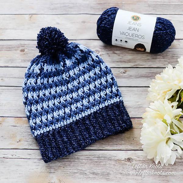 Free Crochet Alpine Ridge Slouchy Hat Pattern
