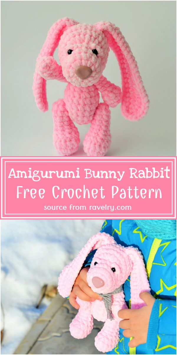 Free Crochet Amigurumi Bunny Rabbit Pattern