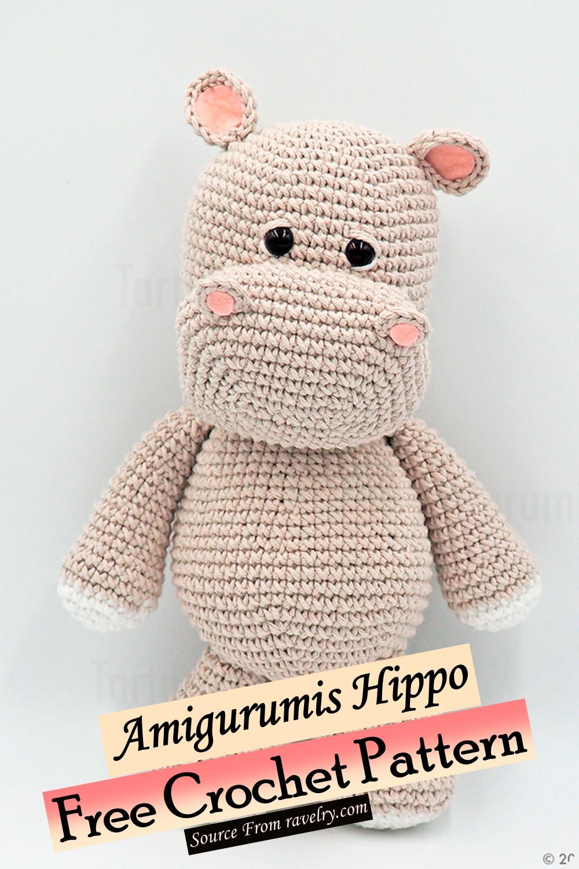 Free Crochet Amigurumis Hippo Pattern