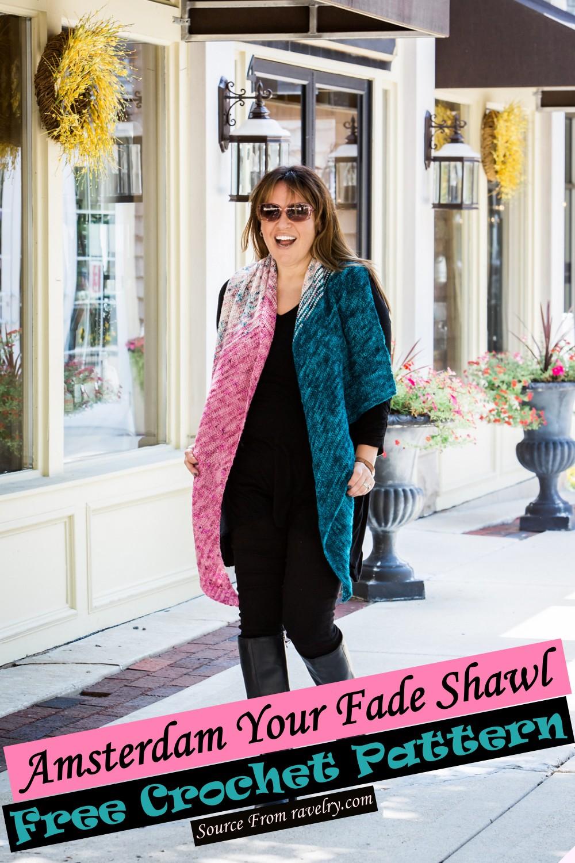 Free Crochet Amsterdam Your Fade Shawl Pattern