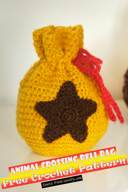 Free Crochet Animal Crossing Bell Bag Pattern