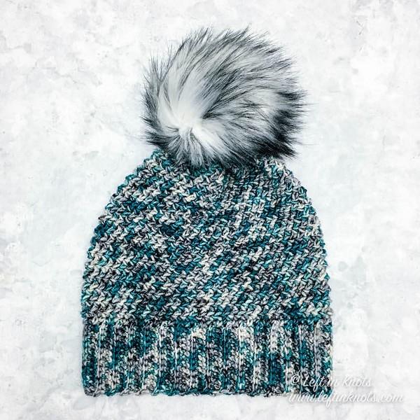 Free Crochet Arctic Paradise Slouch Hat Pattern