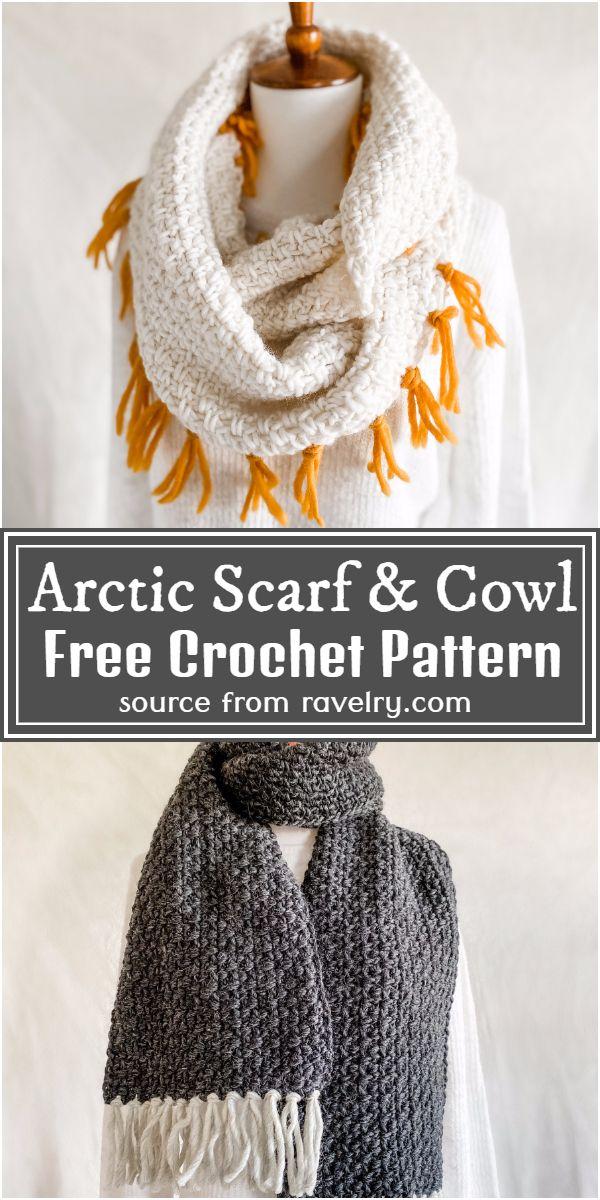 Free Crochet Arctic Scarf & Cowl Pattern