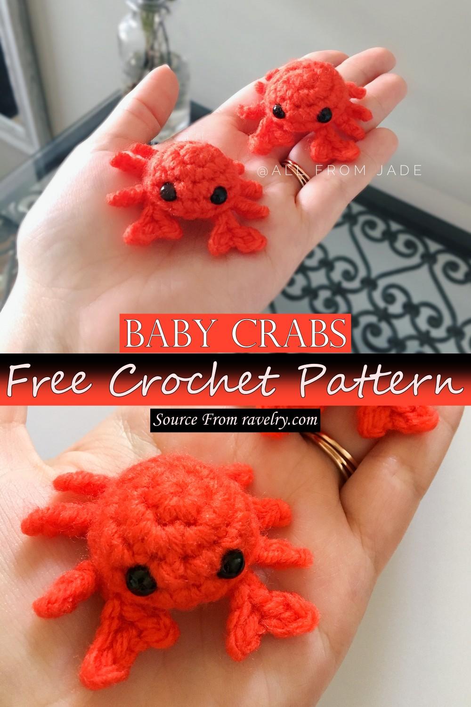 Free Crochet Baby Crabs Pattern