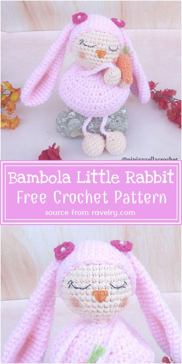 Free Crochet Bambola Little Rabbit Pattern