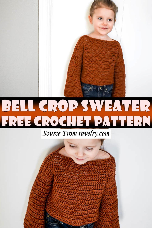 Free Crochet Bell Crop Sweater Pattern