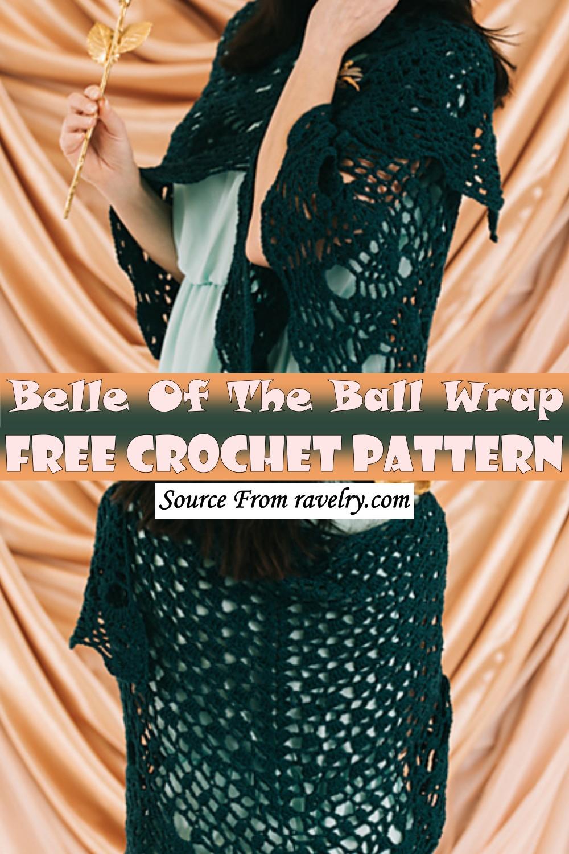 Free Crochet Belle Of The Ball Wrap Pattern