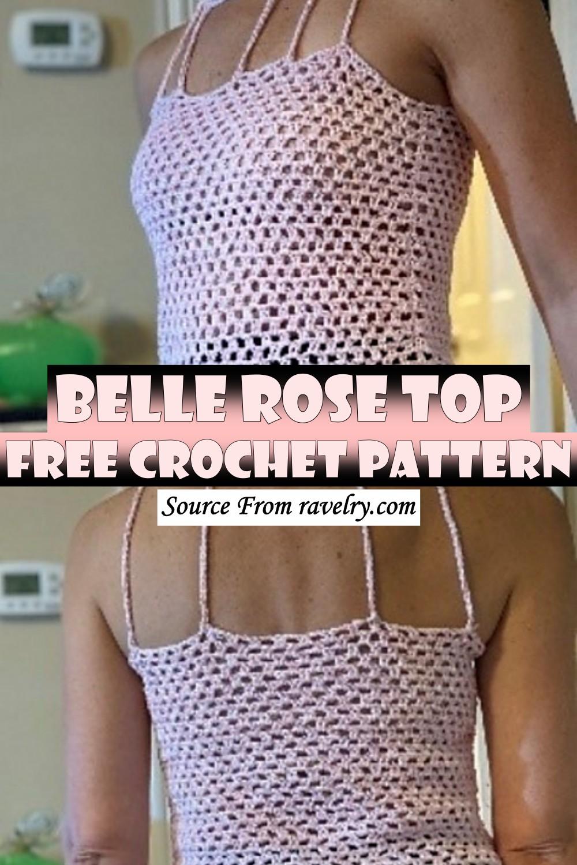 Free Crochet Belle Rose Top Pattern
